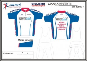 nederlandse winter triathlon custom jersey